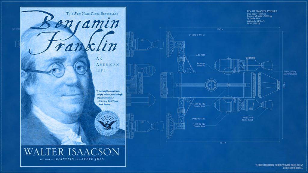 15 books elon musk thinks everyone should read - Benjamin Franklin An American Life by Walter Isaacson