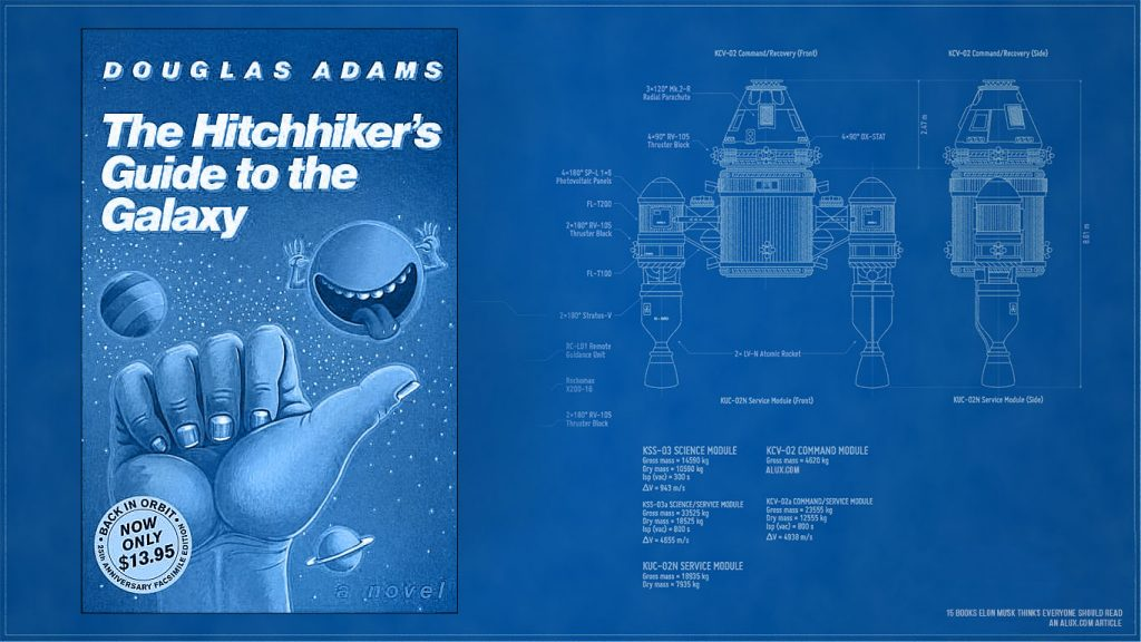 15 books elon musk thinks everyone should read - The Hitchhiker's Guide to the Galaxy by Douglas Adams