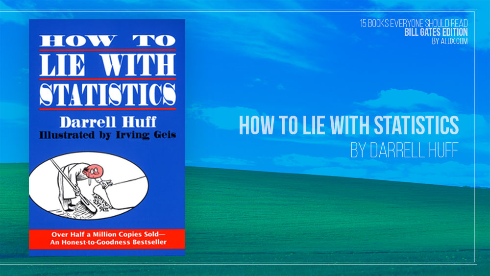 Alux 15 Bill Gates Books Everyone Should Read - How to Lie With Statistics by Darrell Huff