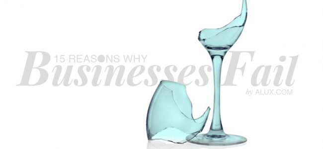 15 reasons why businesses fail by alux luxury artwork