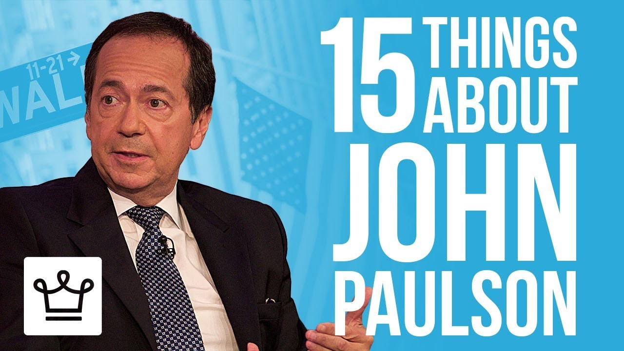 15 Things You Didn't Know About John Paulson