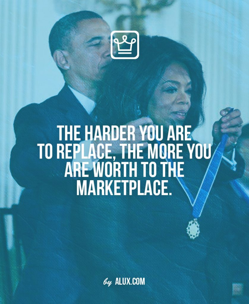 The harder you are replace worth to the marketplace